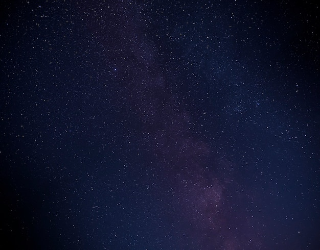 Une partie de la galaxie de la voie lactée dans le ciel nocturne