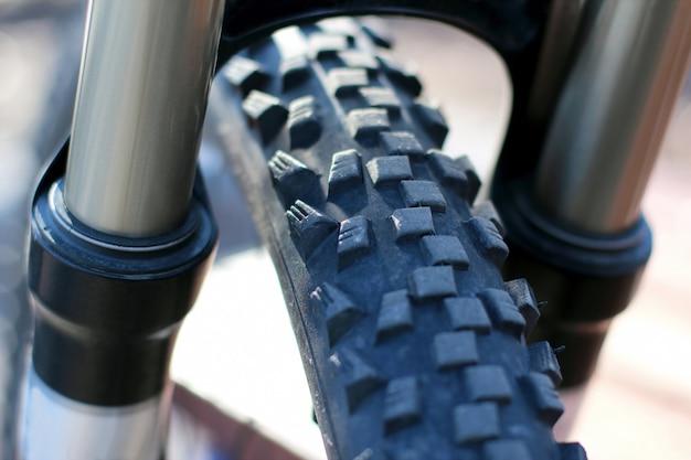 Partie d'un gros plan de roue de vélo