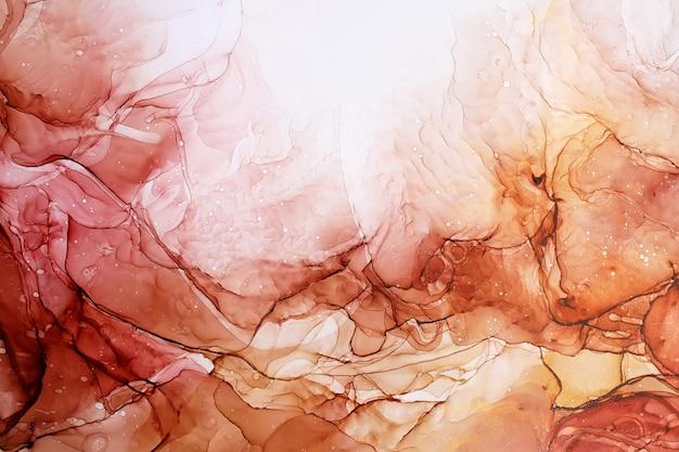 Partie de peinture à l'encre d'alcool originale, abstrait