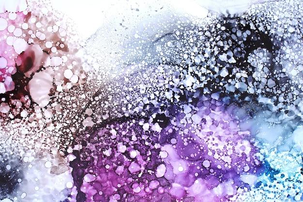 Partie de la peinture à l'encre d'alcool originale, fond abstrait