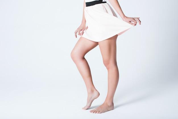 Parties du corps, belles jambes féminines