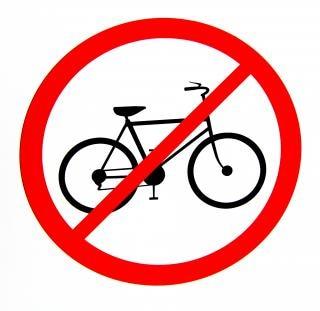 Pas de vélos autorisés