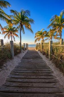 Passage à la plage, key west