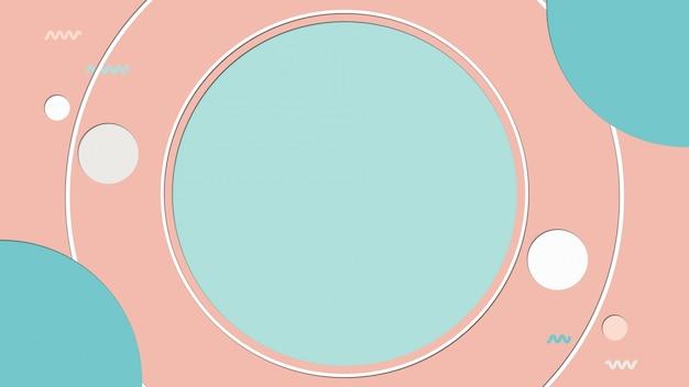 Pastel abstrait avec fond de forme