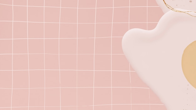 Pastel abstrait sur fond de grille