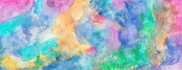 Pastel coloré motif papier texture bannière lumineuse impression aquarelle peinture abstraite dessinés à la main mu ...