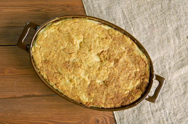 Pastel de papa con eliote casserole de pommes de terre et de maïs