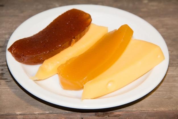 Patate douce et fromage de coing et doux.