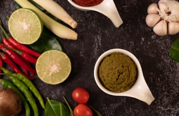 Pâte de curry vert à base de piment