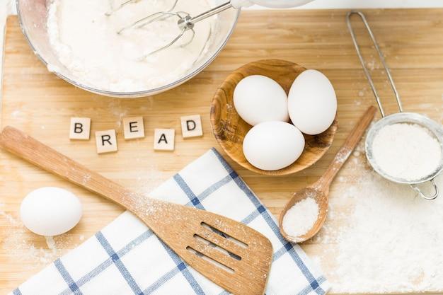 Pâte. mélangeur de pain.