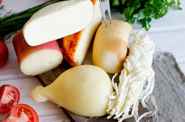 Pâtes filata au fromage maison