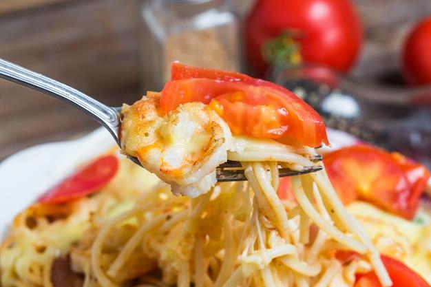 Pâtes de fruits de mer, crevettes