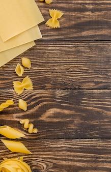 Pâtes italiennes avec copie espace