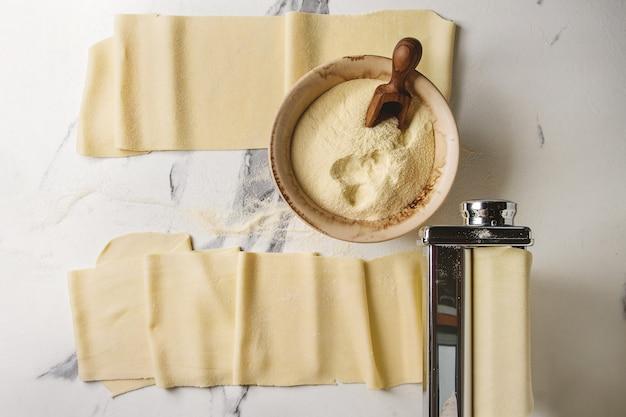 Pâtes non cuites faites maison