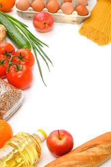 Pâtes, sucre, pois, livraison de nourriture c, don, approvisionnement alimentaire, copyspace