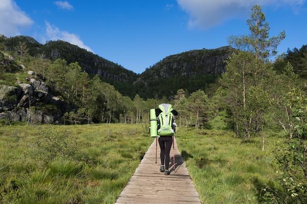 Pathway preikestolen, norvège