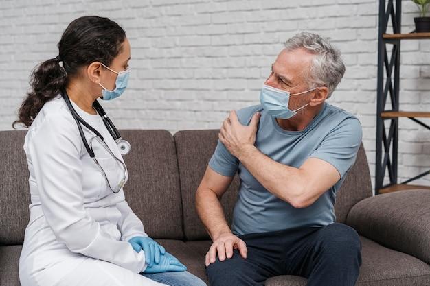 Patient bénéficiant du soutien du médecin