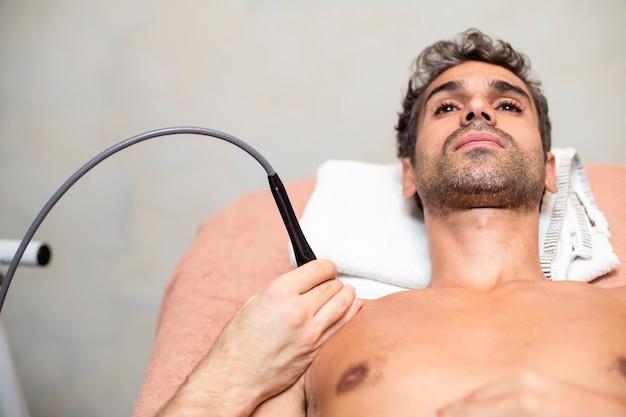 Patient en physiothérapie