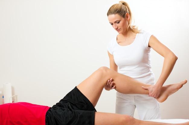 Patient à la physiothérapie