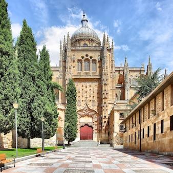 Patio chico et nouvelle cathédrale à salamanque, espagne