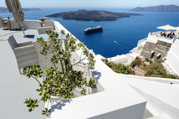 Patios et terrasses de luxe à oia