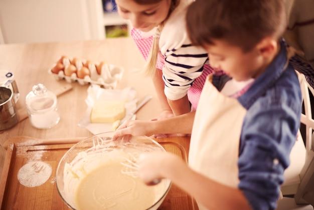 Pâtisserie maison faite par les enfants