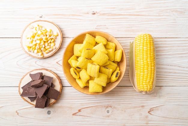 Pâtisseries au maïs et au chocolat