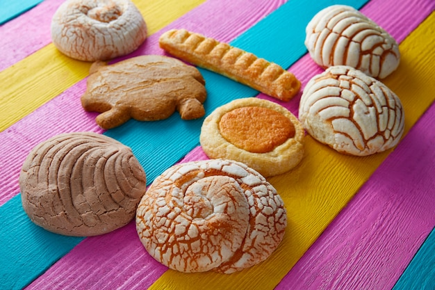 Pâtisseries mexicaines concha puerquito ojo buey