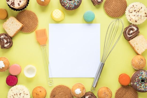 Pâtisseries et papier