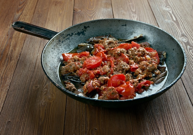 Patlican musakka à l'aubergine