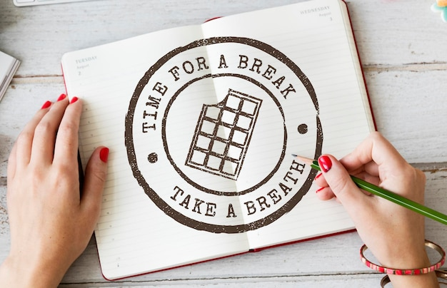 Pause loisirs temps libre concept de week-end