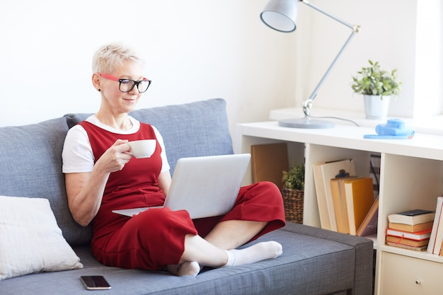 Pause avec ordinateur portable