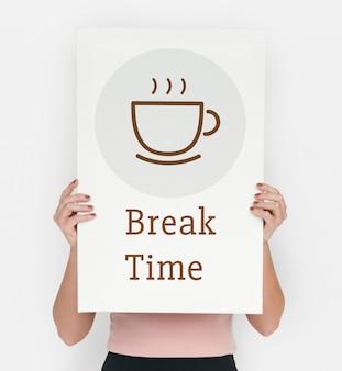Pause temps sip café concept