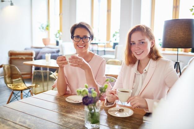 Pause thé à la cafétéria