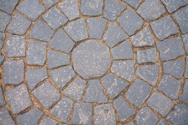 Pavés en pierre sur les trottoirs