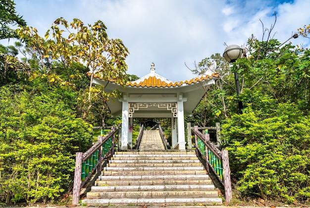 Pavillon dans le parc changshou à taipei, la capitale de taiwan