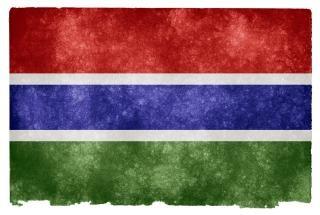 Pays gambie drapeau grunge