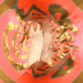 Paysage abstrait. illustration 3d, rendu 3d.