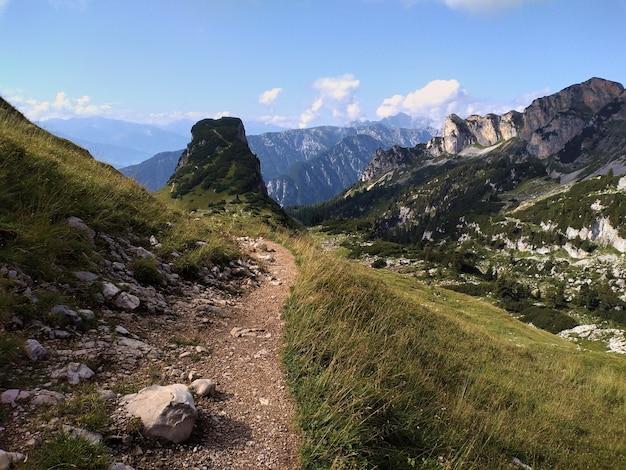 Paysage alpin dans les montagnes du rofan en été