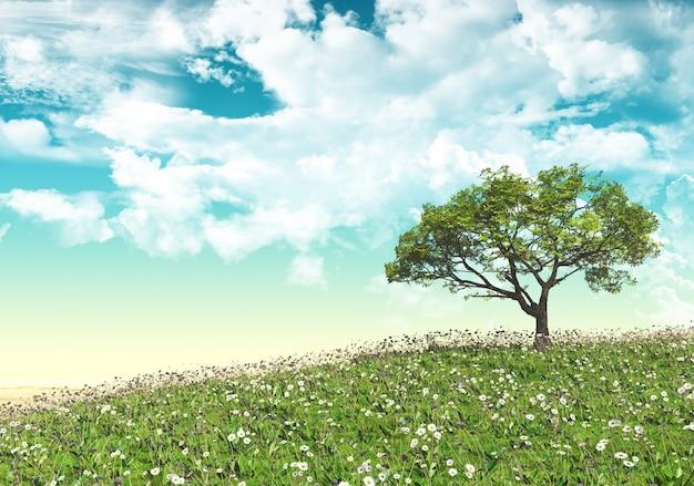 Paysage avec arbres