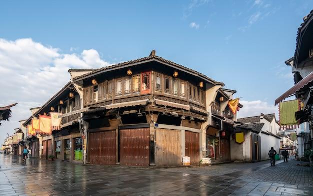 Paysage architectural antique de la vieille rue de hangzhou