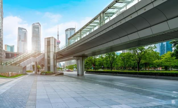 Paysage architectural de shanghai lujiazui