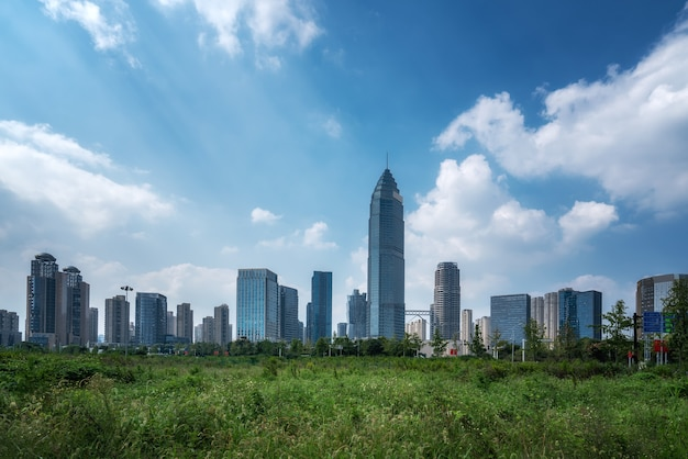Paysage architectural urbain moderne de shaoxing chine