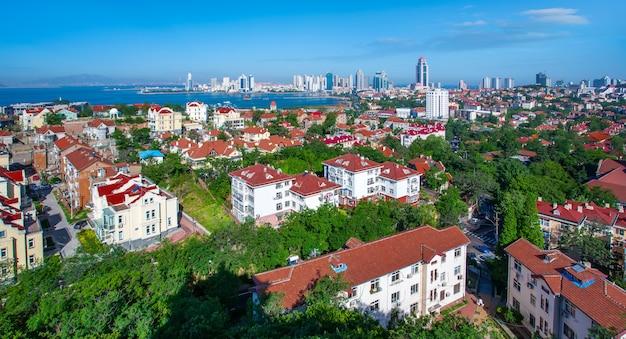 Paysage architectural urbain de qingdao, chine
