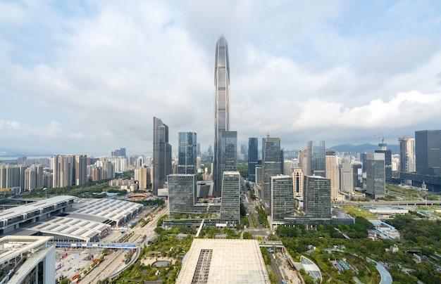 Paysage d'architecture urbaine moderne à shenzhen, en chine