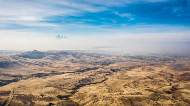 Paysage d'arménie/ vue aérienne
