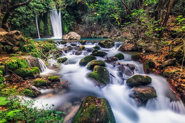 Paysage de banias en cascade