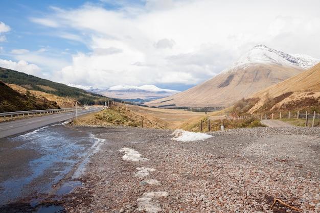 Paysage de campagne highland scotland