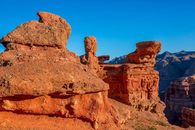 Paysage de canyon rouge