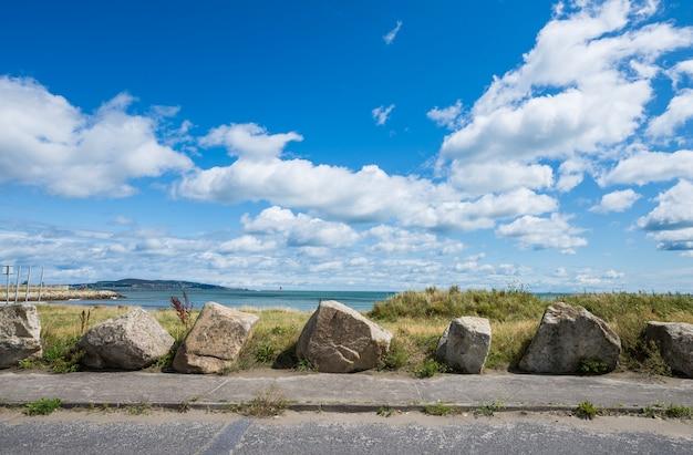 Paysage de la côte de la baie de dublin
